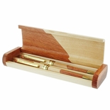 TWO-TONE BOXED PEN AND PENCIL SET