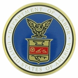 U.S. DEPARTMENT OF LABOR, 2 INCH ETCHED ENAMELED