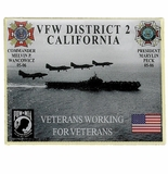 VFW DISTRICT 2 CALIFORNIA PIN