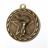 VICTORY TORCH MEDAL IN ANTIQUE BRASS, SILVER OR BRONZE