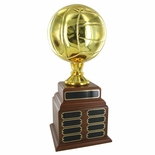 VOLLEYBALL PERPETUAL TROPHY, HEIGHT 19 INCHES, 8 INCH GOLD BALL