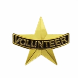 VOLUNTEER STAR SHAPED LAPEL PIN