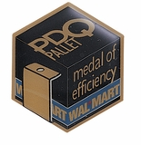 WAL-MART PDQ PALLET MEDAL OF EFFICIENCY PIN