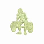 WEIGHTLIFTING CHENILLE PIN GOLD