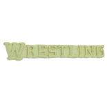WRESTLING CHENILLE PIN GOLD