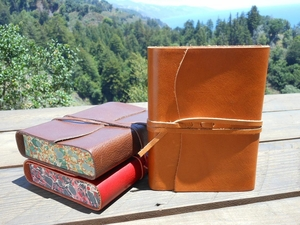 Cavallini Roma Leather Journals - Assorted Colors