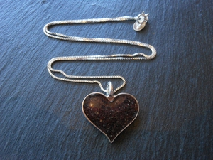 Pfeiffer Purple Sand Heart Necklace by Dune
