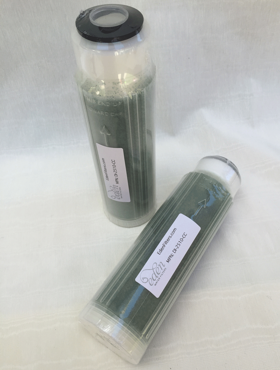 25x10 Cartridge Filled With Color Change DI Resin Deionization Water Filter