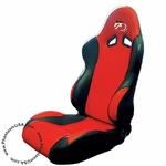 Tuner FX (T25-3801) Vinyl Racing Seat, Red/ Black Color (Sold As Singles)
