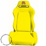 Tuner FX (T25-3907) Cloth Racing Seat, Yellow Color (Sold As Singles)