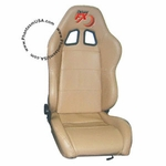 Tuner FX (T25-3937) Genuine Leather, Racing Seat,  Beige Color (Sold As Singles)