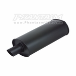 Vibrant - Universal Flat Black Mufflers - with Single Tip (Save 20%)