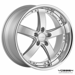 Vossen Wheels - VVS084 - Silver Machined, Stainless Lip (Save 15%)