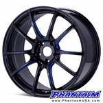 WedsSport Wheels - SA55M - Gloss Black, Blue Machining (Save 15%) BBM