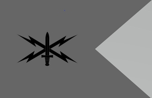 Army Cyber Corps  Branch Guidon (9x12)
