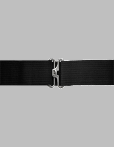 Black Cotton Web Pistol Belt w/Silver finish
