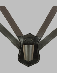 Black Double strap Flag carry Harness