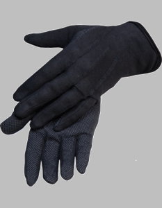 Black Cotton Sure Grip Ceremonial Gloves