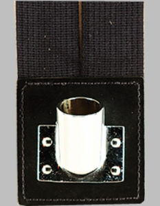 Black Flagset Carrier Double-Strap w/Chrome Cup