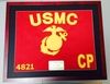Framed  Regulation Size USMC Guidon