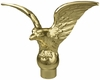 Gold Metal Flying Eagle Indoor Flagpole ornament