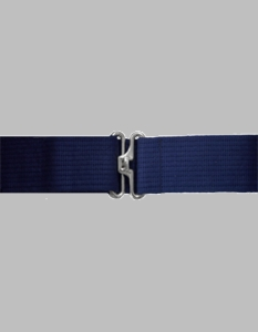 Navy Blue Pistol Belt w/Silver Finish