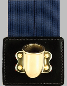 Navy Blue Web Flagset Carrier Double-Strap w/Brass Cup