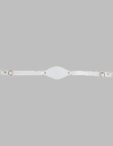 White Leather Chin Straps