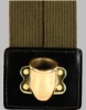Olive Drab Flagset Carrier Double-Strap w/Brass Cup