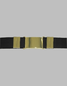 Parade Belt Black with Brass Buckle