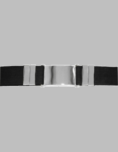 Parade Belt Black with Silver Buckle