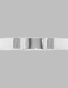 White Parade Belt White with Chrome Buckle