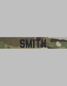 Army Scorpion Uniform Name Tape w/Black Embroidery