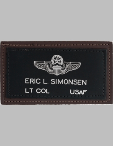 U.S. Air Force Brown on Black Flight Tags