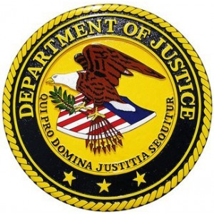 U.S. Department Of Justice Wall & Podium Plaque