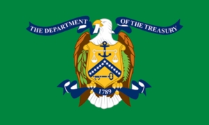 U.S. Department Of Treasury Flag