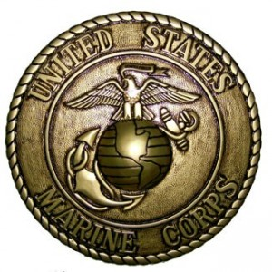 U.S. Marine Corps Hand Carved Gold Finish Plaques