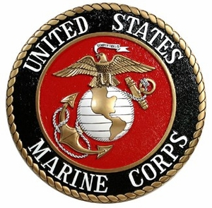 U.S. Marine Corps Hand Carved Plaques