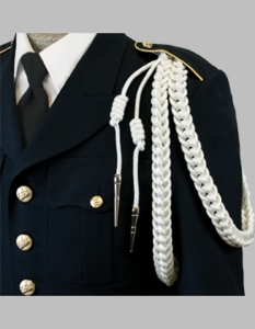 U.S.Navy Ceremonial Aiguillette (White)
