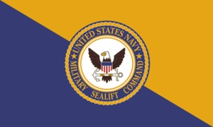 U.S. Navy Military Sealift Command flags