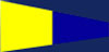 U.S. Navy Number 5 Signal Pennant