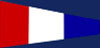 U.S. Navy Number 3 Signal Pennant