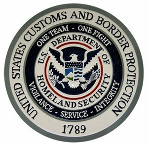 US Customs Wall & Podium Plaques hand Carved Mahogony