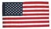 USA 3Ft x 4Ft Bemberg Rayon Embroidered Flag (No Fringe)