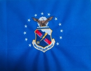 USAF 99TH AIR Base Wing Mini Framable Flag