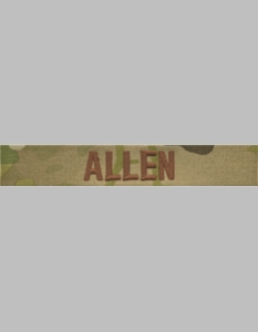 USAF Scorpion Name Tape w/Brown Embroidery