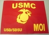 "USMC Large  Guidon 22"" x 28"" For Framing"