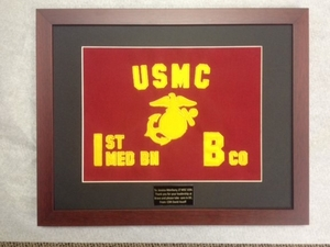 "USMC Small Framed USMC Guidon 10"" x 15"""