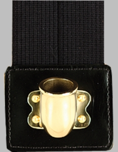 Web Flag Carrier Doublestrap with Brass (Black)