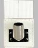White Flagset Carrier Double-Strap w/Chrome Cup